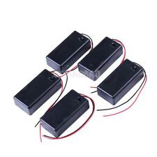 #gib 5PCS 9V Battery Holder Box Case with Wire Lead ON/OFF Switch Cover