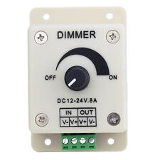 12V-24V 8A LED Light Strip Dimmer Controller w/ PWM Adjustable Brightness Switch