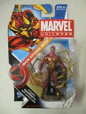 MOC 2009 HASBRO MARVEL UNIVERSE SERIES 2 IRON SPIDER-MAN ACTION FIGURE #021