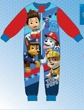 Boys Character Micro Fleece Paw Patrol Onesie Sizes 2,3,4,5,6 Years