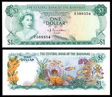 Bahamas 1 Dollar Donaldson (p35a) L. 1974 qeii Au/unc