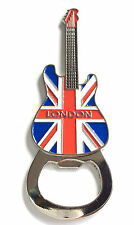 UK Union Jack Flag London Fridge Magnet Guitar Shape Bottle Opener Souvenir Gift