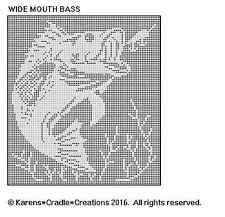 WIDE MOUTH BASS Filet Crochet Pattern