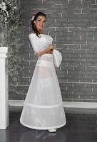 White Ivory Petticoat Underskirt Crinoline With Velcro Closure S-XXL-220