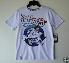 LRG Boys Roots Generation Short Sleeve Graphic Tee - White NWT size Large B5539