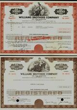 Set of 2 Gas / Pipe Lines / Exploration : Williams Brothers Company Tulsa Ok