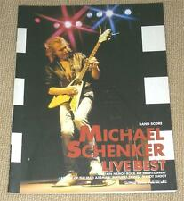 Michael Schenker ~ LIVE BEST ~ JAPAN BAND SCORE TAB ~ M.S.G. ~ MSG ~