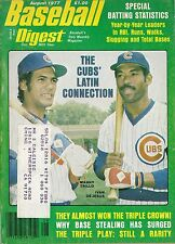 AUGUST 1977 BASEBALL DIGEST CHICAGO CUBS  TRILLO & DE JESUS ON COVER
