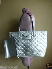 Marc By Marc Jacobs Silver Quilted Saffiano Leather Metropolitote Tote