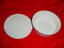 CORNING WARE FRENCH WHITE CASSEROLE DISH 24 OZ ROUND WITH LID FREE USA SHIPPING