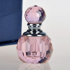 NEW Pink Crystal Perfume Bottle Cut Small Mini Glass Empty Bottle Lady Gift 1ml