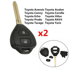 2 X BUTTON REMOTE KEY SHELL For Toyota Prado Rav4 Camry Corolla Echo Hilux Yaris