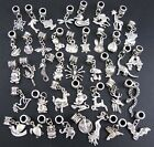 Wholesale 40pcs Bulk Lots Tibetan Silver Mix Pendants Charms Animal Beads FREE