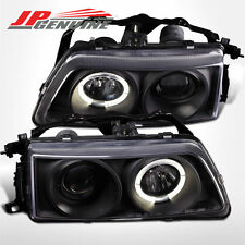 HALO PROJECTOR HEADLIGHTS BLACK - HONDA CIVIC / CRX 90-91