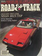 Road & Track magazine 11/1983 featuring Nissan ZX, Dodge, Mercedes, Ford