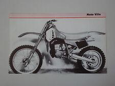 - RITAGLIO DI GIORNALE 1982 MOTO VILLA 125 MC 82