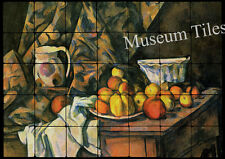 28x20 Cézanne Apples and Peaches  Art Tiles for Kitchen