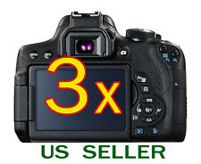 3x Canon EOS 750D Rebel T6i Camera Clear LCD Screen Protector Guard Shield Film