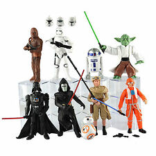 9X/LOT Star Wars Darth Vader Kylo Ren Stormtrooper Yoda R2D2 BB8 Action Figure