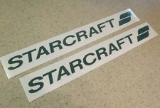 "Starcraft Vintage Camping Trailer Decal 18"" 2-PAK FREE SHIP + FREE Fish Decal!"