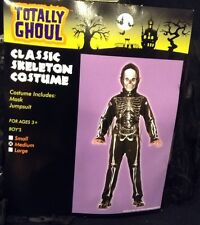 Totally Ghoul Boy's Classic Skeleton Halloween Costume Medium
