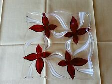 MIKASA ANGELICA RUBY GLASS PLATTER TRAY GORGEOUS