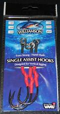 Williamson Lures Single Assist Hooks SAH-XXLS 11/0 VMC Hook 200lb Short - 3 pack