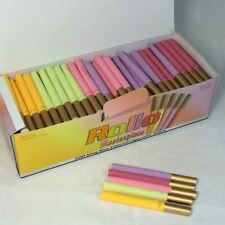 Roll Masterpiece Multi Coloured Cigarette Tubes with golden butt 200 tubes.