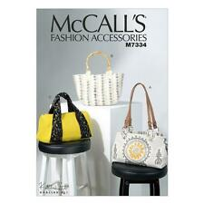 McCALL'S SEWING PATTERN CRAFTS MISSES' FASHION ACCESSORIES BAGS  M7334