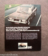 O800 - Advertising Pubblicità -1969- OPEL COMMODORE GS