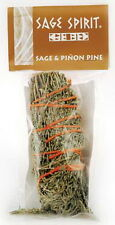 SMUDGE STICK: 13cms SAGE & PINION PINE Wicca Witch Pagan PURIFY PROTECTION CLEAR