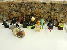 Lego Star Wars  Mini Figures Qui Gon Jinn Vader Obi Wan Gammorean Maul Palpatine