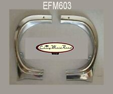 65 NOVA CHEVY II HEADLAMP FENDER EYEBROW MOLDINGS