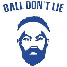 "5 Pack of ""Ball Don't Lie"" Screen Printed Vinyl Die-cut Laptop Sticker"