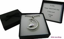 I Love You To The Moon And Back Silver Heart Necklace Personalised Box Valentine