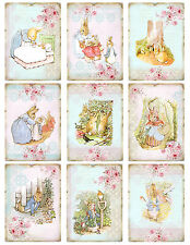 Peter Rabbit Beatrix Potter ~ Card Toppers / Scrapbooking / Card Making