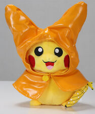 18cm Pokemon Center Monthly Pikachu Raincoat Cute Soft Plush Toy Christmas Gift