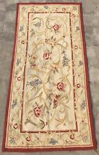 Old Handmade French Design Original Wool Aubusson Rug Tapestry 69 By142 Cm