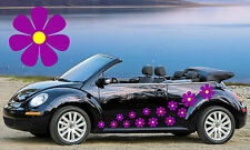 14 PURPLE & YELLOW CENTER DAISY CAR DECALS,STICKERS,CAR GRAPHICS