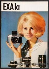 IHAGEE Kamera Reklame Prospekt EXA 1a IA Broschüre Werbung Werbeheft (X2694