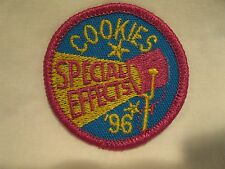 Girl Scout Patch Special Effects Cookies '96 1996 Uniform Patch GS