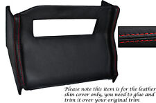 RED STITCH CENTRE CONSOLE RADIO SURROUND LEATHER SKIN COVER FITS MG MGB 72-76