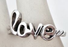 Sterling Silver Love Ring Vintage Size 8 Stackable Band Fashion Jewelry Hippie
