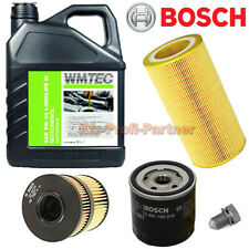 BOSCH Ölfilter + 5 Liter WMTec SAE 5W-30 Longlife 3 VW Golf 3 1,8 Syncro 90PS