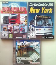 Truck simulateur world Edition + city bus simulator 2010 + bus simulator pc