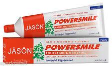 Jason POWER SMILE Antiplaque & Whitening Peppermint Non Fluoride TOOTHPASTE 170g