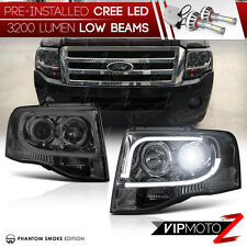 [LED LOWBEAM] 2007-2014 Ford Expedition |ARCTIC OPTIC| Smoke Projector Headlight