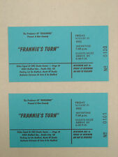 FRANNIES TURN  2 ORIGINAL 1992 TICKETS HOLLYWOOD FROM PRODUCERS OF ROSANNE