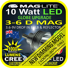 MAGLITE LED UPGRADE 3-6 D BULB GLOBE for TORCH FLASHLIGHT 3.6-9V 1000lm DIMMABLE