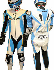 ARLEN NESS 7864 MAGNESIUM REPLICA SBK Tuta moto Intera Leather suit PISTA BLU